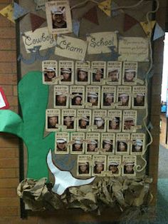 Cowboy Charm School Bulletin....GREAT website for bulletin boards and theme activities! (snow much fun, read across america week)