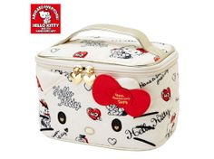 Hello Kitty 40th Anniversary 40th Hug Vanity Case Cosmetic Bag Pouch SANRIO JAPAN