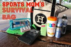 It's time for spring sports - soccer, football, little league, the list goes on. This fun little survival bag from Posed Perfecti. Baseball Tournament, Baseball Season, Baseball Games, Soccer Season, Baseball Food, Softball Tournaments, Softball Drills, Baseball Display, Volleyball