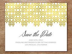 Gold Foil Confetti Save The Date Postcard  Best Confetti And