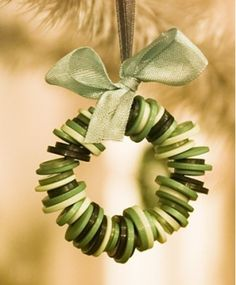 wreath made of buttons Great Christmas ornaments