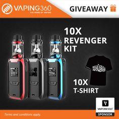 10 x Revenger Kit + 10 x Vaporesso T-Shirt Giveaway