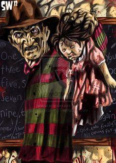 Come to Freddy! Robert Englund, Freddy Krueger, Horror Villains, Badass Movie, Horror Pictures, Horror Artwork, Horror Icons, Classic Horror Movies, Horror Show
