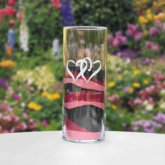 Linked Hearts Large Cylinder - Personalized - wedding ceremony accessories - wedding reception decorations