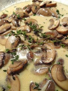 Mushroom Marsala Cream Sauce…delicious over a Grilled New York Strip Steak. Re… Mushroom Marsala Cream Sauce … Delicious New York Strip Steak. Recipes included for both. Steak Recipes, Sauce Recipes, Cooking Recipes, Cooking Cake, Grilled Recipes, Mushroom Cream Sauces, Mushroom Recipes, Mushroom Steak Sauce Recipe, Steak With Mushroom Sauce