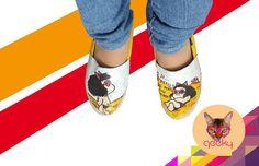 Mafalda by Geeky #shoes #moda #zapatos #geek #mafalda #fashion #look #woman #talentovenezolano #pintado by geeky_design