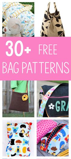 30+ Free Bag Sewing Patterns-You're going to love these fun bags to sew and the free bag patterns. Purses, messenger bags, tote bags and so many fun options to choose from! #sew #sewing #crafts #purse