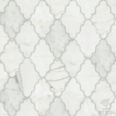 Moraccan-influenced marble tile