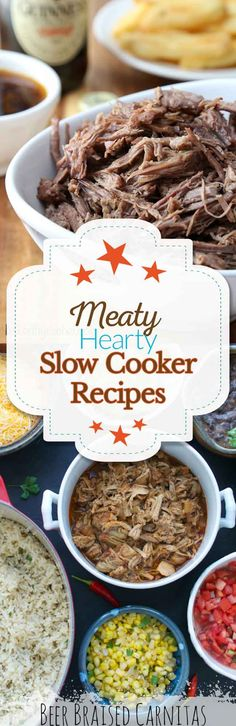 Love slow cooker recipes? Try these amazing meaty slow cooker recipes.