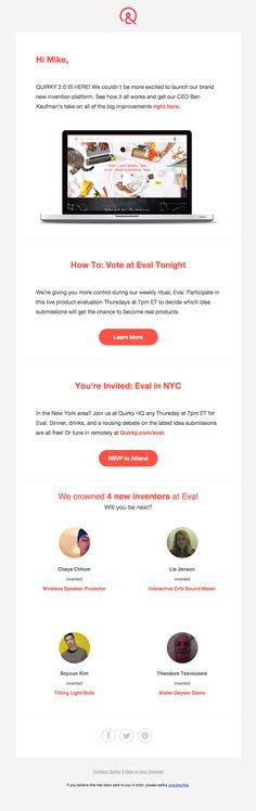 The Best Email Designs in the Universe (that came into my inbox) Email Marketing Design, Email Design, Web Design, Graphic Design, Email Layout, Best Email, New Inventions, Newsletter Design, Email Campaign