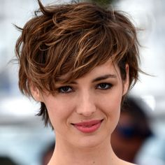 Louise Bourgoin, whose top-heavy and tousled style exemplifies laid-back, French-girl elegance Summer's Hottest New Haircut & How To Pull It Off | The Zoe Report