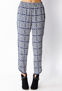 Baroque Moment Trousers | LOVE21 - 2000063517
