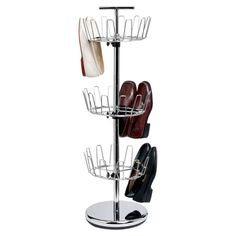 18-Pair Shoe Rack in Chrome