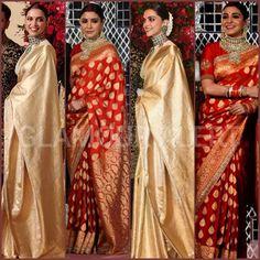 Bollywood Bridal, Bollywood Actress, Ranveer Singh, Anushka Sharma, Deepika Padukone, Celebrity Weddings, Sari, Glamour, Actresses