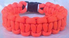 Paracord Bracelet Deer Hunter Safety Orange