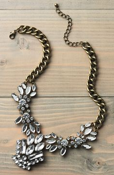 Statement necklace. Typically, I would not wear something with so much bling, but it is cute.