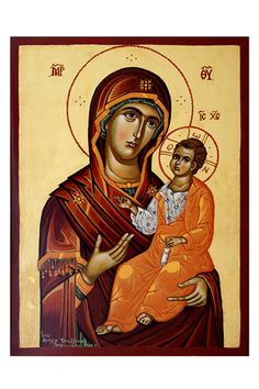 A V 019 gallery floraki,bazaar Virgin Mary, Golden Star, Our Lady, Matching Icons, Panna, Gallery, Movie Posters, Gouache, Nativity