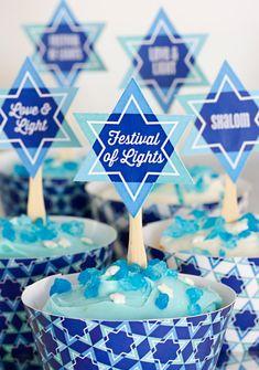 DIY Hanukkah Star Cupcake Toppers - Free Printable Download