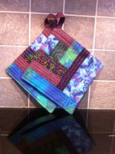 Scrappy potholders Picnic Blanket, Outdoor Blanket, Potholders, Pot Holders, Hot Pads, Picnic Quilt