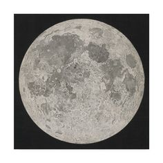 Trademark Fine Art 'Lunar Cartography, 1805-06' Canvas Art by John Russell, Black