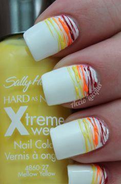 Sally Hansen Mellow Yellow Nail Art Stripes, Striped Nails, Rainbow Nail Art, Us Nails, Sally Hansen, Mellow Yellow, Camper, Design Inspiration, Nail Stuff