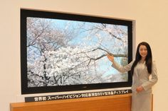 A new television technology known as Super Hi-Vision offers viewers a picture 16 times the resolution currently available on HDTVs. 8k Tv, New Television, First World, The Page, Display, Audio, Geek, Detail, Future