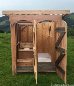 glamping shower and compost toilet for permanent camping/hunting if there isn't plumbing/utilities