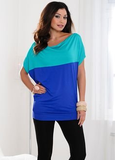 Shirt smaragd/royal - Damen - BODYFLIRT - bonprix.de