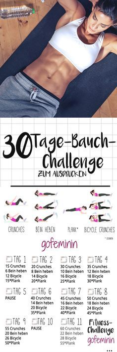 The 30 day belly challenge: bye rolls, hello six pack! - The 30 day belly challenge: bye rolls, hello six pack! Informations About Die 30 Tage Bauch-Challeng - Fitness Workouts, Fitness Herausforderungen, Sport Fitness, Fun Workouts, At Home Workouts, Health Fitness, Rogue Fitness, Fitness Studio, Fitness Quotes
