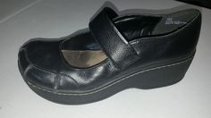Mia black 7 1/2 M vintage 90's leather codie #Mia #maryjanes