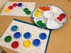 Игры с цветными крышками! - Babyblog.ru