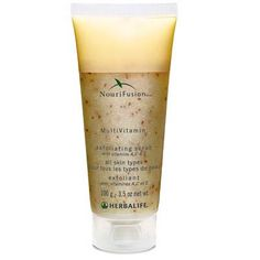 AWESEOME PRODUCT! FEEL it- LOVE it! NouriFusion® MultiVitamin Exfoliating Scrub: Formulated with jojoba, beeswax and raspberry and strawberry seeds, this gentle formula exfoliates to reveal smooth, vibrant and renewed skin.  Key Benefits:  Scrub away dead skin cells  Reveal smoother, rejuvenated skin   Support cell turnover  Infos and Orders at:  https://www.goherbalife.com/goherb/