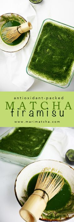 knows that Tiramisu is an amazing culinary combination of mascarpone whipped cream cocoa and coffee. But did you know that tiramisu can also be made with Matcha green tea? Avocado Smoothie, Matcha Tiramisu, Green Tea Dessert, Green Tea Latte, Green Tea Powder, Matcha Green Tea, Snacks, Natural Detox, Just Desserts