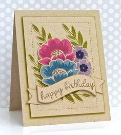 Gran's Garden: PTI, flower sketch, pretty periwinkles