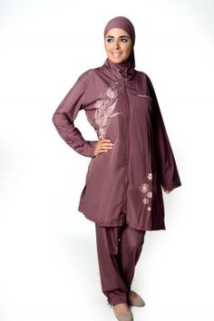 ccf93bd4a9a78 Brown 3-Piece Islamic Swimsuit This beautiful swimming suit is specifically  designed for Muslim women