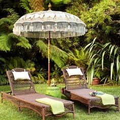 gorgeous Balinese Umbrella w/ hand carved pole...
