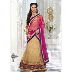 Bring out the glamorous best in you as you wear this Beige- Color Net Designer which is accompanied with a macthing dupatta and choli. The lehenga features jacquard work and exquisite embroidered gota patti border embellished with lace work Bridal Lehenga Online, Designer Bridal Lehenga, Lehenga Choli Online, Ghagra Choli, Bridal Lehenga Choli, Brocade Lehenga, Pink Lehenga, Lehenga Saree, Indian Wedding Lehenga
