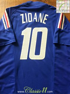f65bf8607 Relive Zinedine Zidane s 2002 2003 international season with this original  Adidas France home football shirt