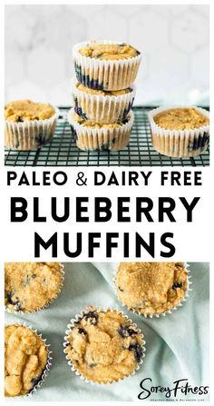Avoiding grains and dairy? Make these Paleo Blueberry Muffins for breakfast or snacks! These muffins are naturally sweetened and made without almond flour, and are completely dairy free as well. Dairy Free Recipes, Paleo Recipes, Baking Recipes, Muffin Recipes, Gluten Free, Top Recipes, Delicious Recipes, Easy Recipes, Brunch Recipes