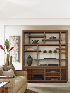 a room of balance and zen tranquility with this Pan Asianinspired display shelf The beautiful open fretwork draws attention but doesnt overwhelm your space The shelf unit. Decor, Modern Shelving, Furniture, Modern Shelf, Living Room Shelves, Home Decor, Modern Shelf Design, Wall Shelves Living Room, Asian Home Decor
