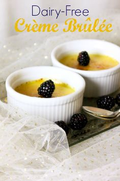 Easy Dairy-Free Creme Brûlée - perfect for holiday #brunch! | ShesCookin.com