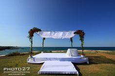 Wedding chuppah on the beach in Puglia by Michela & Michela