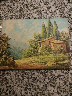 Antique oil painting on cavas landscape with cabin cannot read artist name. Cavas Art, Ebay Paintings, Garden Gates, Spring Garden, Artist Names, Impressionism, Garden Landscaping, Wall Art Decor, Woodland
