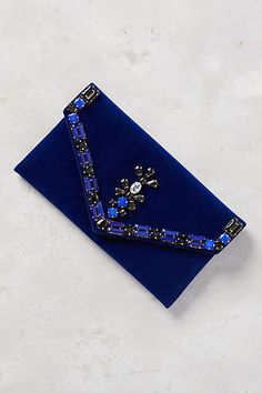 Embellished Velvet Envelope Pouch #anthrofave Save 25% off today with code: SHOPTOIT