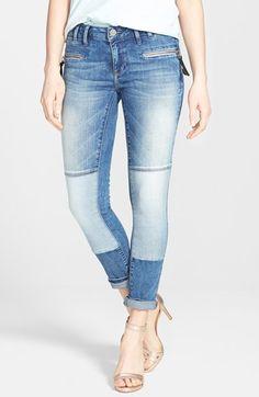 Mavi+Jeans+'Harper'+Stretch+Zip+Pocket+Skinny+Jeans+(True+Blue)+available+at+