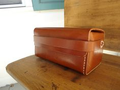Attache Case / Dopp Kit / Hand stitched / Toiletry by OfMudandCoal