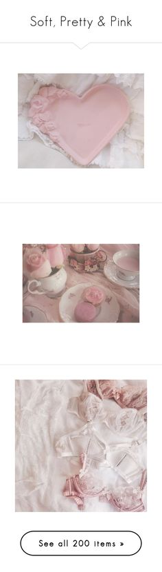 """Soft, Pretty & Pink"" by jewelsinthecrown ❤ liked on Polyvore featuring home, home decor, valentine home decor, photos, backgrounds, people, pictures, models, photo and women"