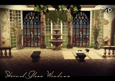 Sims 4 CC's - The Best: 22 Stained Glass Windows by Sims 4 Cc Skin, Sims Cc, Stained Glass Angel, Stained Glass Windows, Sims 4 Windows, Alcohol Ink Glass, Alcohol Inks, Sims Medieval, Sims 4 Cc Furniture