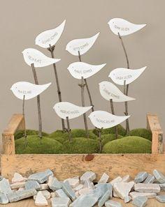 Platzkarte Vogel