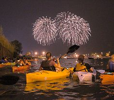 Great way to see the fireworks via kayak - #kayak #kayaking #fireworks